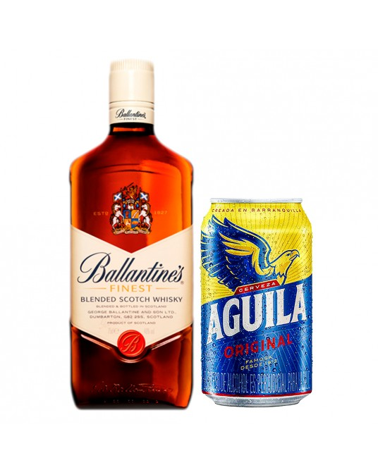 BALLANTINES FINEST BOTELLA 700 ml + GRATIS LATA AGUILA 335mL