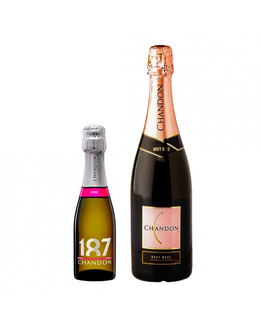 ESPUMANTE CHANDON ROSÉ BOTELLA 750 ml + GRATIS CHANDON PICCOLO187