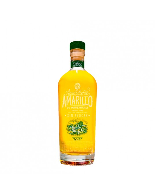 AGUARDIENTE AMARILLO DE MANZANARES MEDIA 375 ml