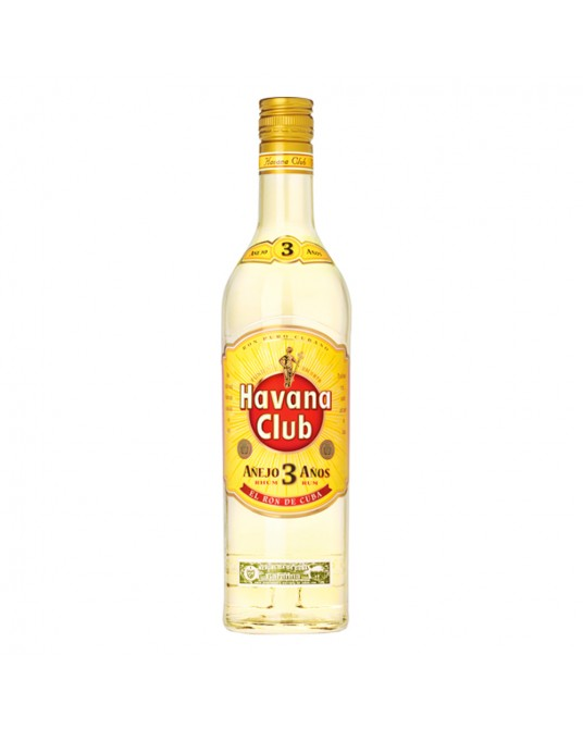 HAVANA CLUB 3 AÑOS BOTELLA 750 ml