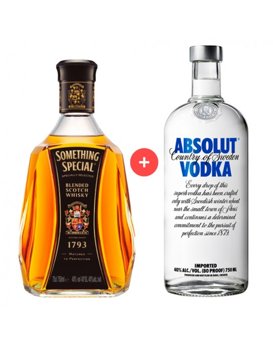 COMBO SOMETHING SPECIAL 750ml + VODKA ABSOLUT 700ml