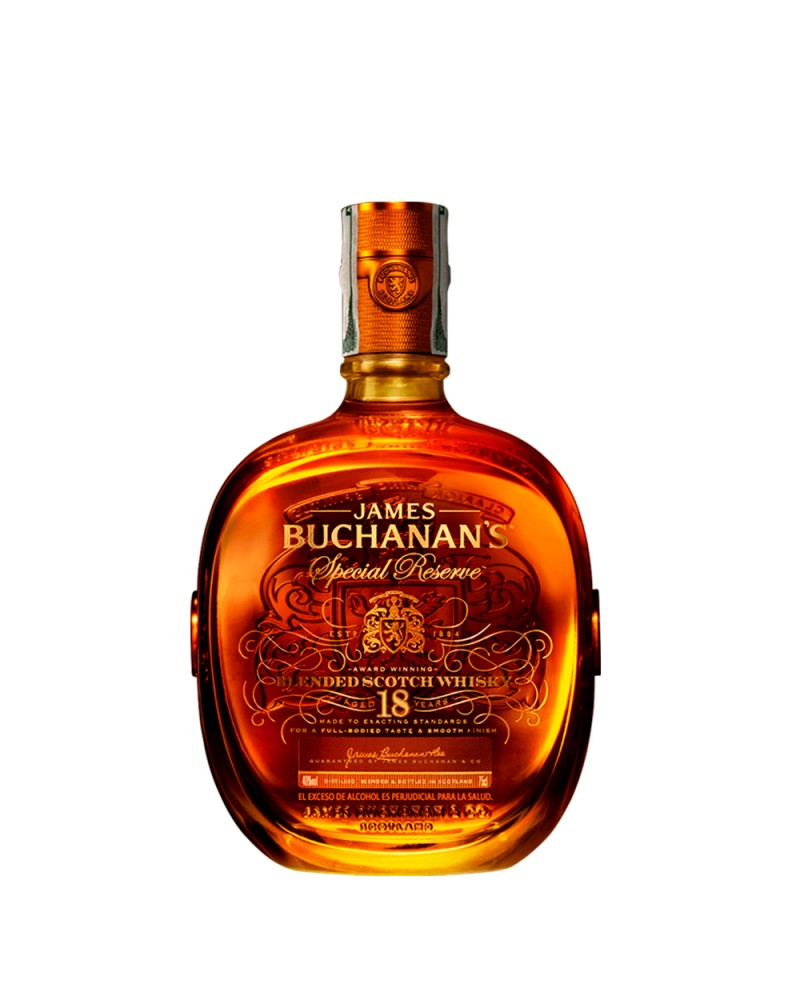 WHISKY BUCHANAN'S 18 AÑOS SPECIAL RESERVE BOTELLA 750 ML
