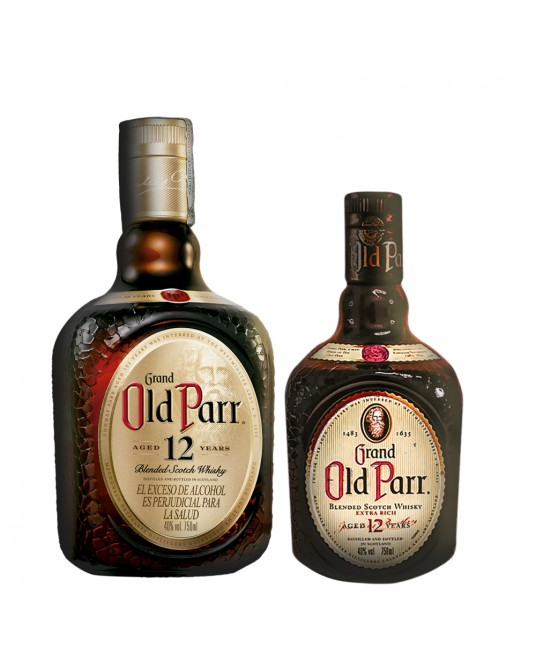 OLD PARR 12 AÑOS BOTELLA 750 ml + MEDIA 500 ml