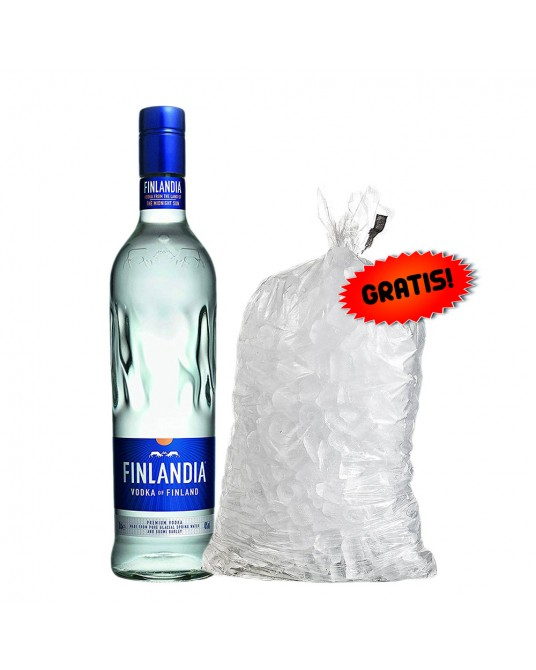 VODKA FINLANDIA BOTELLA 750 ml + HIELO GRATIS