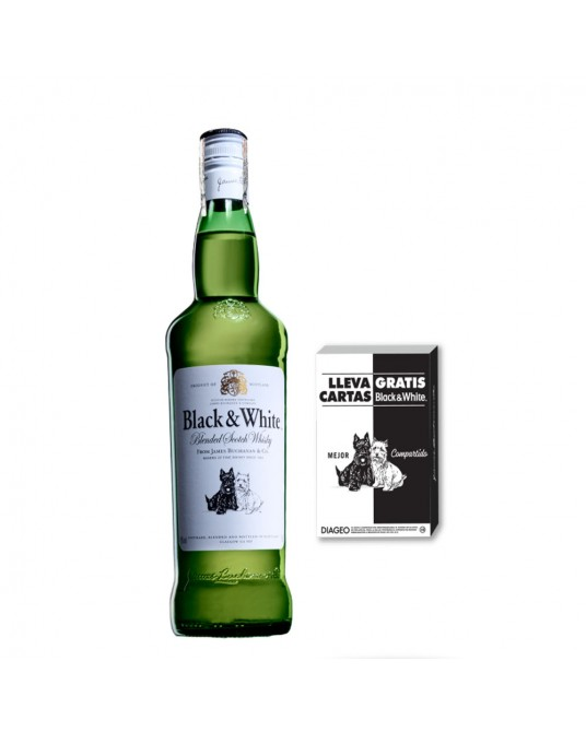 BLACK AND WHITE 8 AÑOS BOTELLA 700 ml + OBSEQUIO