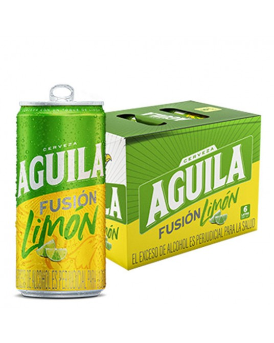 AGUILA FUSIÓN LIMÓN SIX PACK 6x269ml
