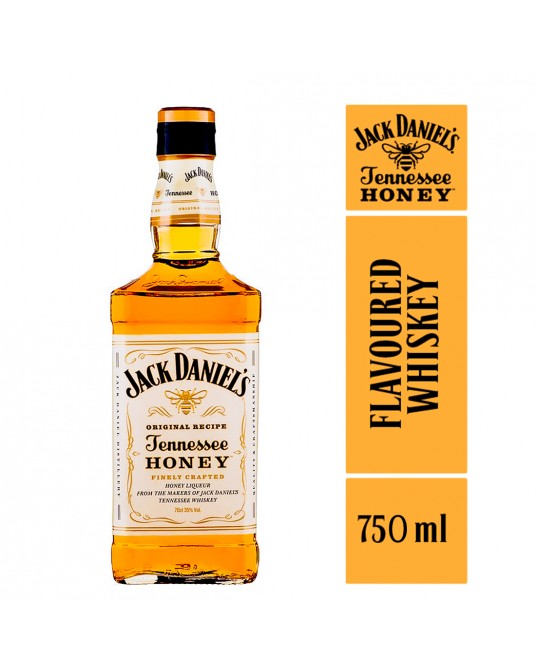WHISKEY JACK DANIEL'S HONEY BOTELLA 750 ml