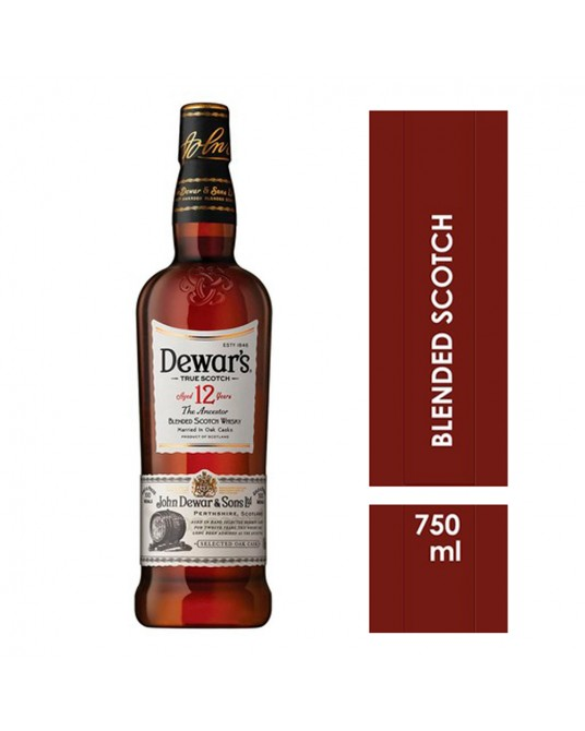 WHISKY DEWAR´S 12 YEARS BOTELLA 750 ml