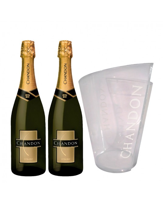 ESPUMANTE CHANDON EXTRA BRUT X 2 BOTELLA 750 ml + HIELERA