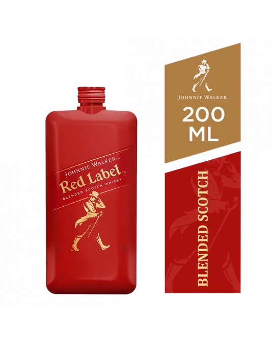 WHISKY JOHNNIE WALKER RED LABEL POCKET 200 ml