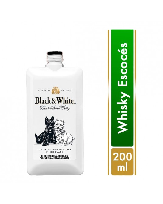 WHISKY BLACK & WHITE POCKET 200 ml