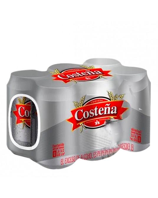 CERVEZA COSTEÑA LATA SIX PACK 330 ml