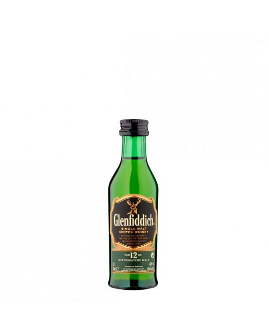 WHISKY GLENFIDDICH 12 AÑOS BOTELLITA 50 ml