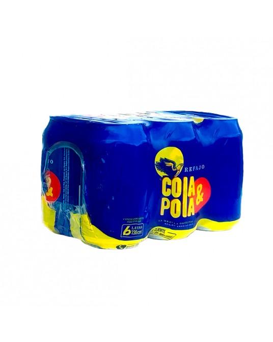 GASEOSA REFAJO COLA Y POLA SIX PACK 6x330ml