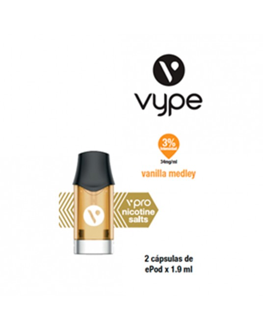 VAPEADOR CAPSULAS Vanilla Medley 34mg/ml CAPSULA X 2 UNID