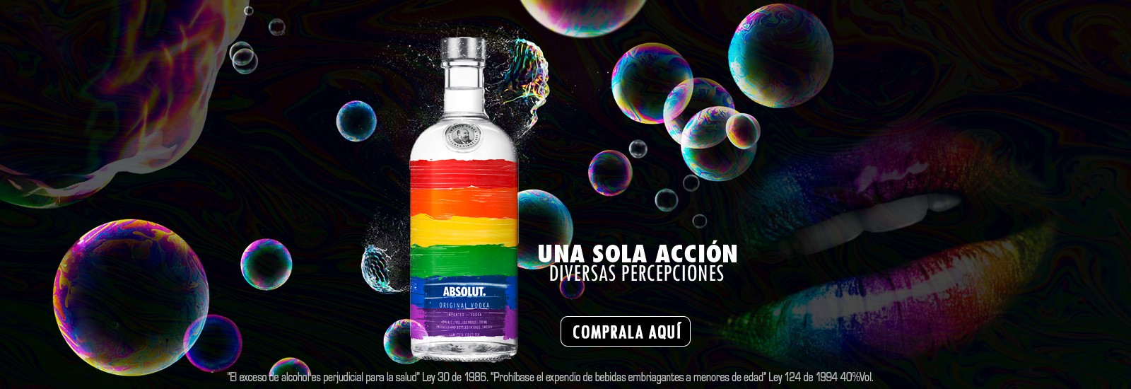VODKA ABSOLUT RAINBOW